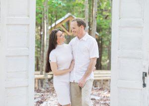 Hemlock Springs owners in the forest wedding site