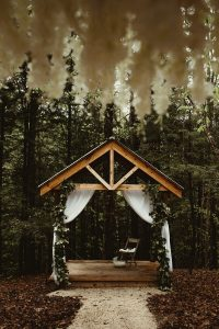 A Red River Gorge Twilight inspired forest wedding at Events At Hemlock Springs.