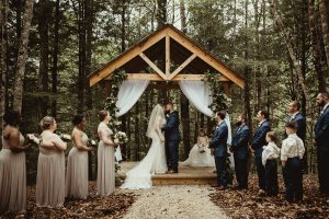 Gorgeous Twilight inspired forest wedding party at Events At Hemlock Springs.