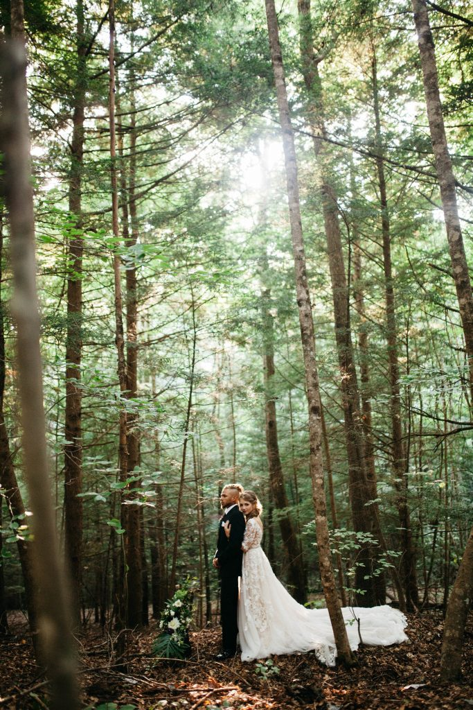 summer forest wedding in the red river gorge