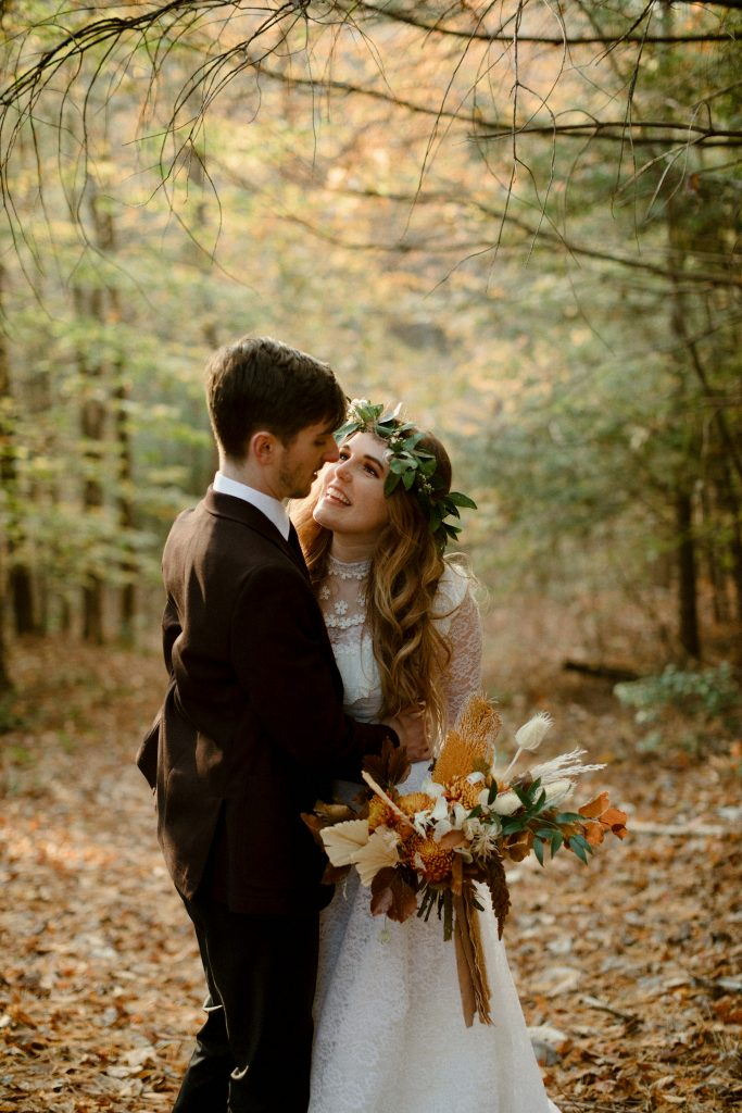 Fall wedding at Hemlock Springs in the Red River Gorge, KY