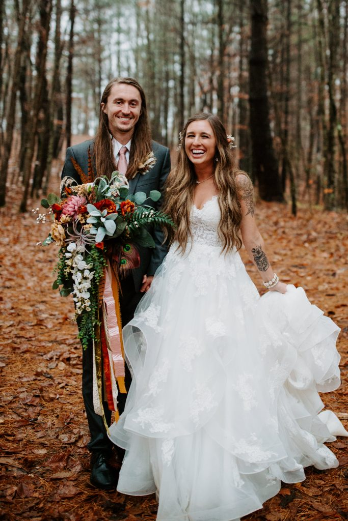FALL boho forest wedding in the red river gorge
